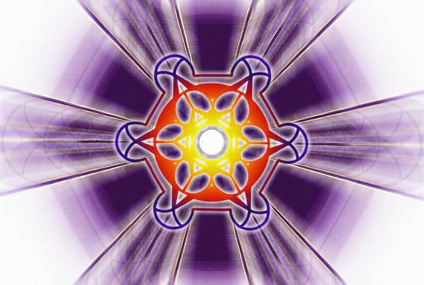Drawing - Metatron Frequencies by Derek Gedney