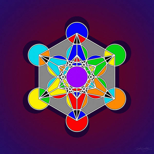 Digital Art - Metatron Lightwave by Derek Gedney