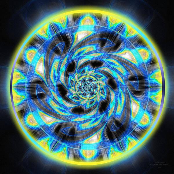 Drawing - Metatron Swirl by Derek Gedney