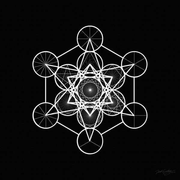 Digital Art - Metatron Wheel Cube by Derek Gedney