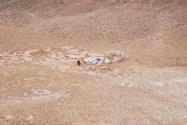Meteor Crater Photograph - Meteor Crater Drill Site by Mark Williamson/science Photo Library