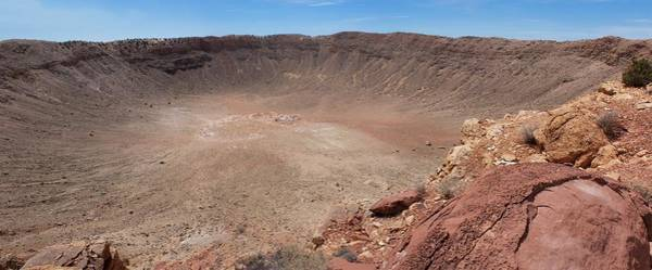 Meteor Crater Photograph - Meteor Crater Panorama by Mark Williamson/science Photo Library