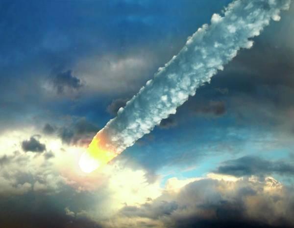 Temperature Digital Art - Meteor In The Earths Atmosphere, Artwork by Roger Harris