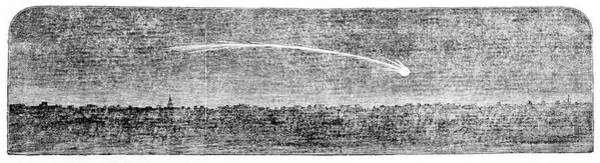 1851 Photograph - Meteor Over London by Royal Astronomical Society/science Photo Library