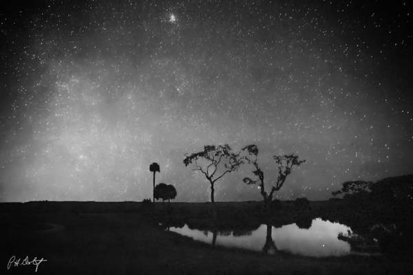 Lowcountry Digital Art - Meteor Shower In Black And White by Phill Doherty