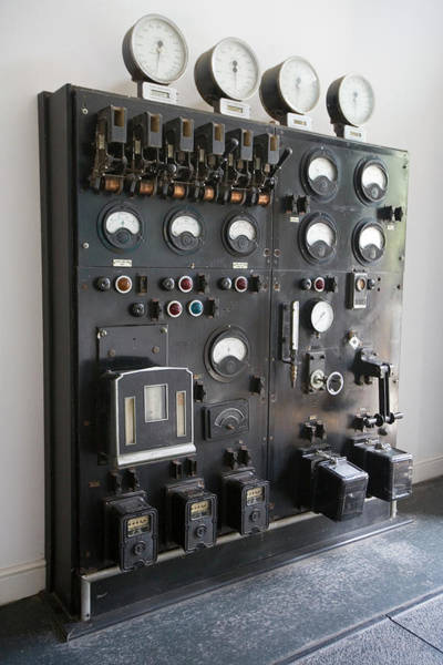 Dials Photograph - Meters At A Filteration Works by Adam Hart-davis/science Photo Library