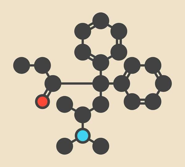 Wall Art - Photograph - Methadone Opioid Dependency Drug Molecule by Molekuul