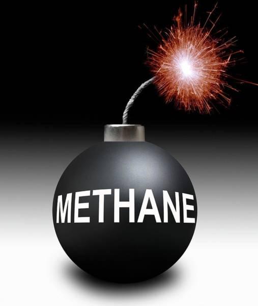 Bomb Photograph - Methane Bomb by Victor De Schwanberg