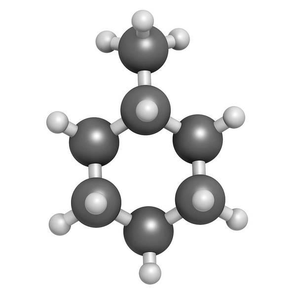 3d Model Photograph - Methylcyclohexane Solvent Molecule by Molekuul