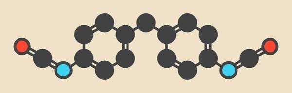 Molecule Wall Art - Photograph - Methylene Diphenyl Diisocyanate Molecule by Molekuul