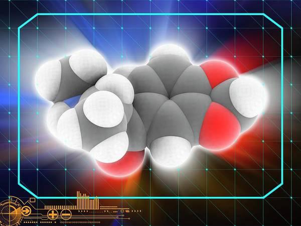 Wall Art - Photograph - Methylone (mdmc) Drug Molecule by Laguna Design/science Photo Library