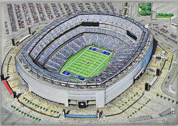 Wall Art - Painting - Metlife Stadium - New York Giants by D J Rogers
