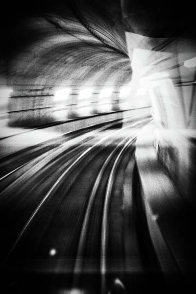 Speed Wall Art - Photograph - Metro Lights by Mauro Bricchetti