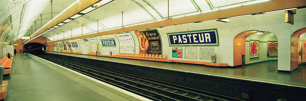 Stop Light Photograph - Metro Station, Paris, France by Panoramic Images