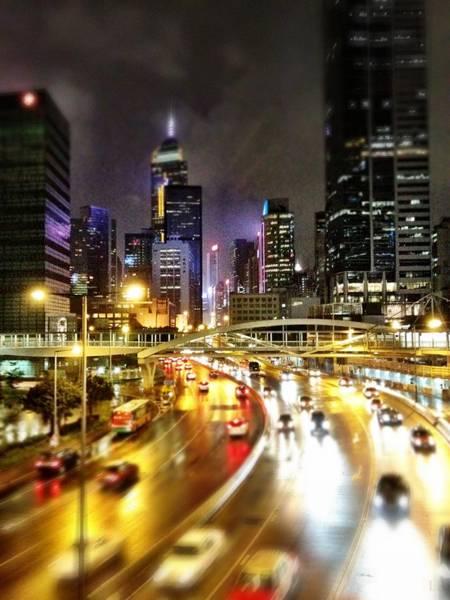 Rush Hour Photograph - Metropolis Hong Kong During Rush Hour by Lars Ruecker