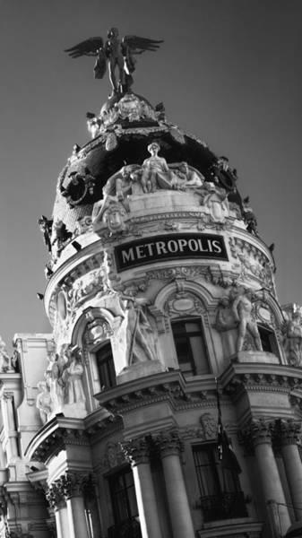 Photograph - Metropolis Madrid Bw by Joan Carroll