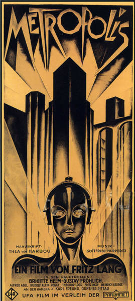 Film Star Photograph - Metropolis Poster by Gianfranco Weiss