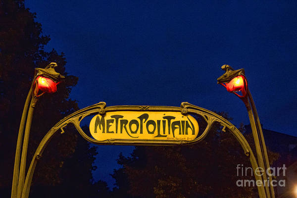 Photograph - Metropolitain #1 by Crystal Nederman