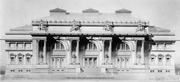 Richard Morris Hunt Wall Art - Drawing - Metropolitan Museum, 1893 by Granger