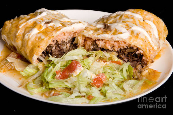 Photograph - Mexican Burrito Plate 2 by James BO Insogna