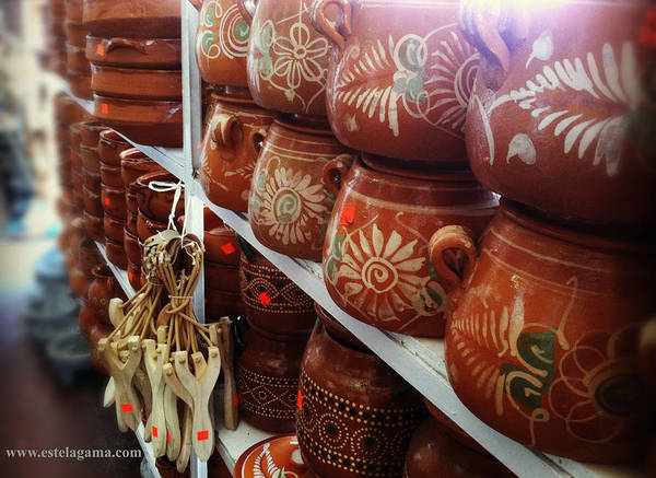 Wall Art - Photograph - Mexican Clay Pots by Estela Gama