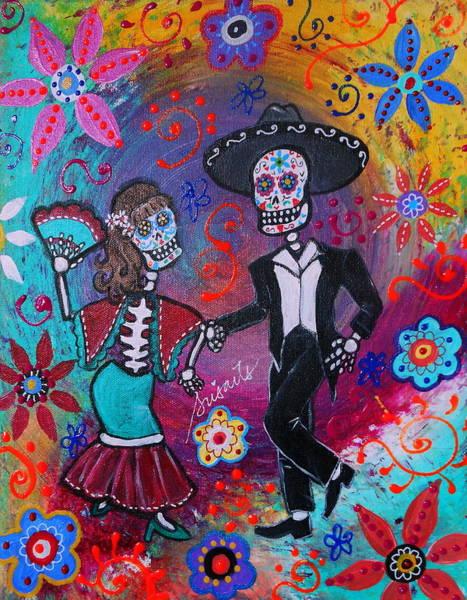 Mariachi Painting - Mexican Couple Bailar Dancers Mariachi by Pristine Cartera Turkus
