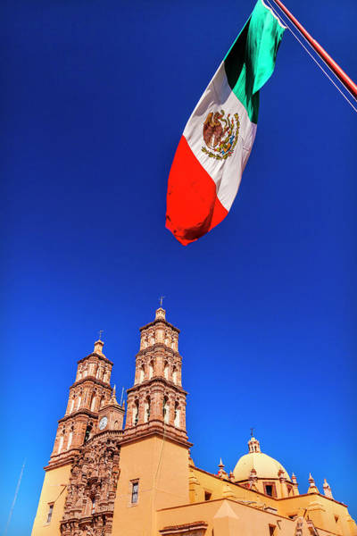 Wall Art - Photograph - Mexican Flag, Parroquia Catedral by William Perry