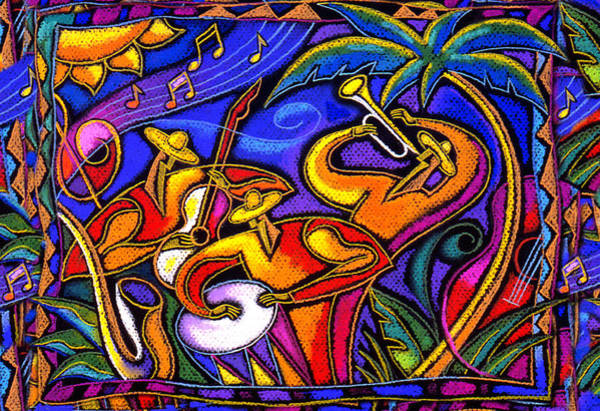 Wall Art - Painting - Latin Music by Leon Zernitsky