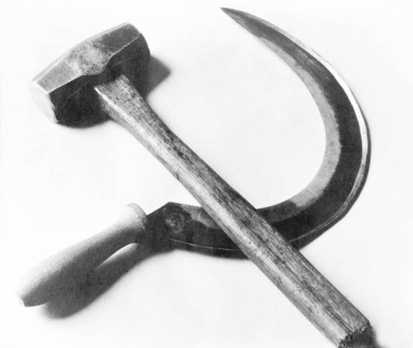 Revolutionary Photograph - Mexican Revolution Hammer And Sickle by Tina Modotti