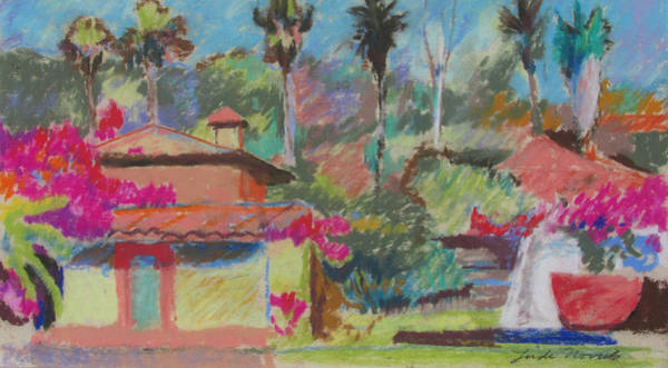 Painting - Mexican Spa by Linda Novick