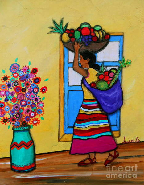 Pristine Wall Art - Painting - Mexican Street Vendor by Pristine Cartera Turkus