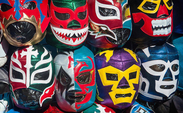 Photograph - Mexican Wrestler Masks by Sandy Scharmer