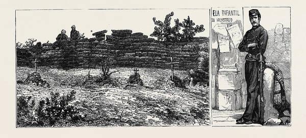 Wall Art - Drawing - Mexico Cerro Las Campaas, Where The Emperor Maximilian by Mexican School