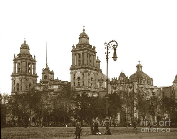 Photograph - Mexico City Cathedral With The Metropolitan Tabernacle To The Right. by California Views Archives Mr Pat Hathaway Archives