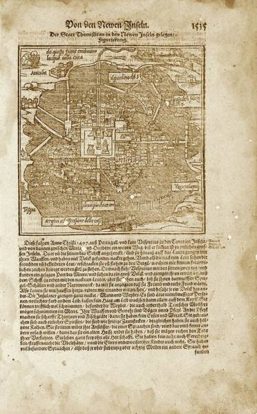 Aztec Photograph - Mexico City by Library Of Congress, Geography And Map Division