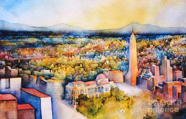 Painting - Mexico-city The Endless Town by Dagmar Helbig