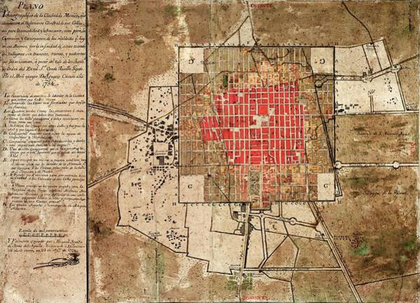 Drainage Photograph - Mexico City Urban Development by Library Of Congress