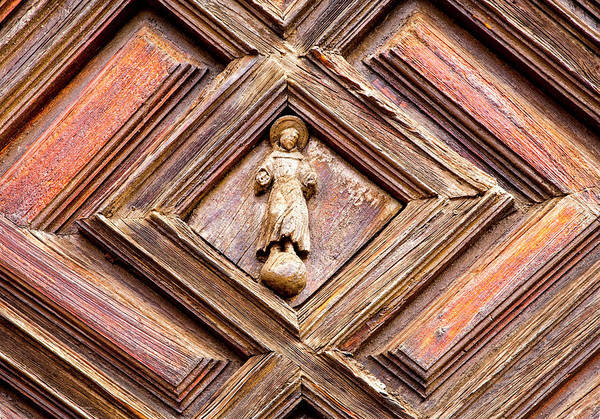 Wall Art - Photograph - Mexico, Guanajuato, Church Door by Hollice Looney