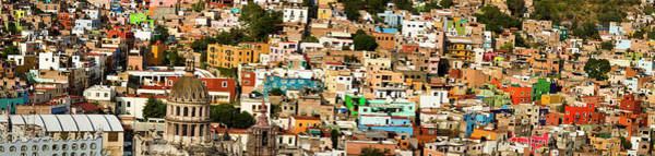 Backroad Wall Art - Photograph - Mexico, Guanajuato, City View Panorama by Terry Eggers