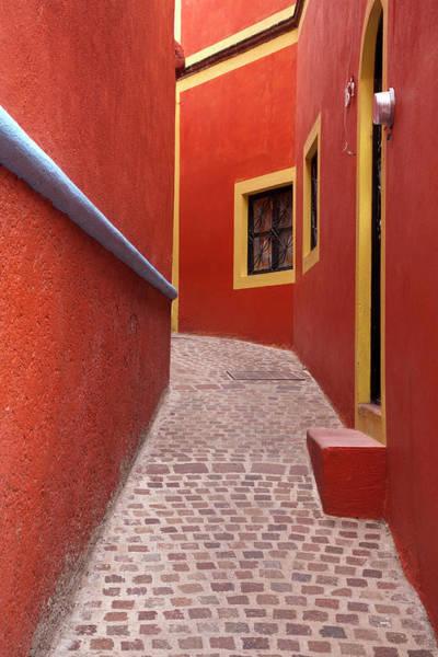 Wall Art - Photograph - Mexico, Guanajuato, Orange Alley by Hollice Looney
