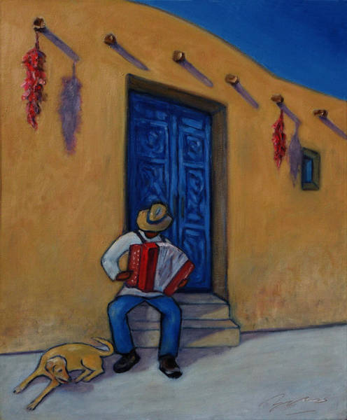 Adobe Walls Painting - Mexico Impression II by Xueling Zou