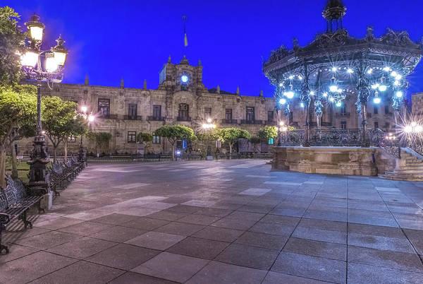 Gazebo Photograph - Mexico, Jalisco, Guadalajara, Plaza De by Rob Tilley