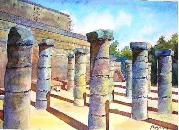 Painting - Mexico Ruins by Betty M M Wong