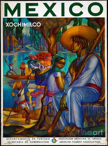 Photograph - Mexico Travel Poster by John  Kolenberg