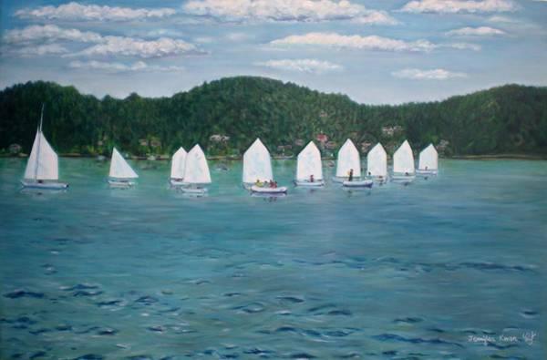 Wall Art - Painting - Meydenbauer Yacht Club by Jennifer Kwon