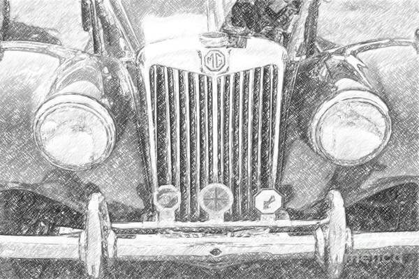 Digital Art - Mg Automobile by Dale Powell