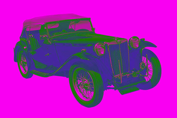 Tc Photograph - Mg Tc Antique Car Pop Image by Keith Webber Jr