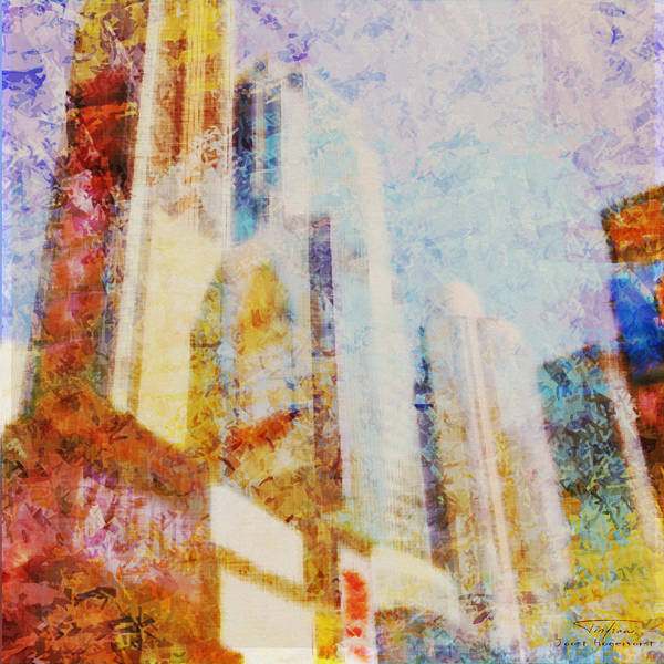 Wall Art - Drawing - Mgl - City Collage - New York 01 by MGL Meiklejohn Graphics Licensing