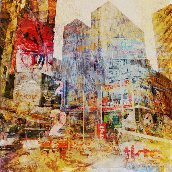 Wall Art - Drawing - Mgl - City Collage - New York 02 by MGL Meiklejohn Graphics Licensing