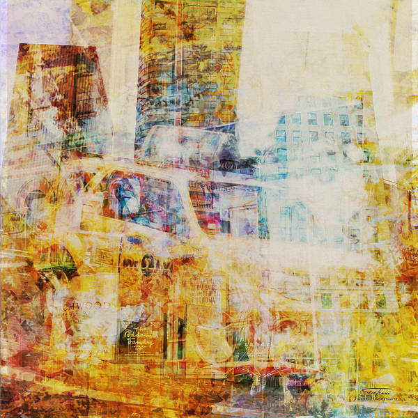 Wall Art - Drawing - Mgl - City Collage - New York 07 by MGL Meiklejohn Graphics Licensing